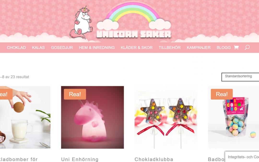 unicorn saker hemsida